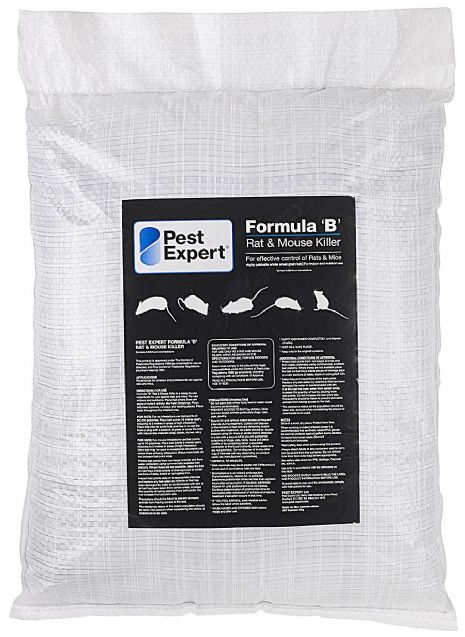 Rat Killer Poison 20kg - Pest Expert Formula 'B' (Professional Use Pack)